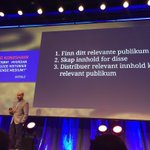 #somed2015: 1: Finn irrelevant publikum 2: Dropp innhold 3: Vær generelt irrelevant Nytt år. Nye ideer: #somed2016 https://t.co/DVo8H4UKRx