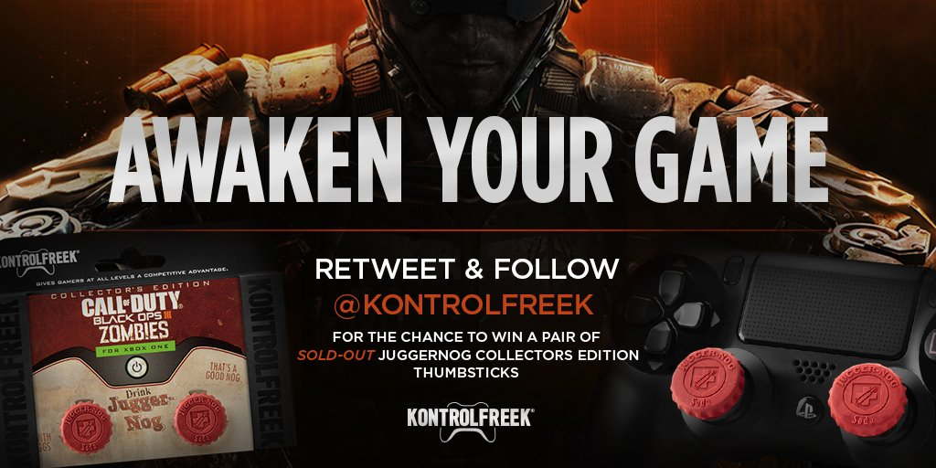 We saved a few for a special occasion... Who wants a KF #JuggerNog to play the new #BO3Awakening...? RT to win! https://t.co/uD9yqWYPuw