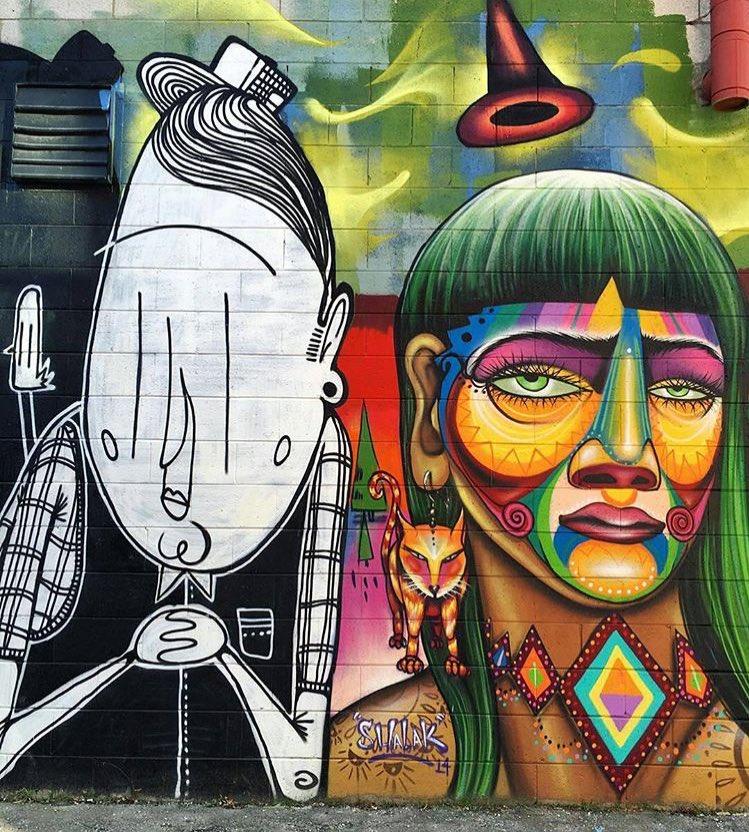 Street Art • Alex Senna & Shalak Attack located in Toronto   #art #graffiti #mural #streetart https://t.co/hFtHXAP2or