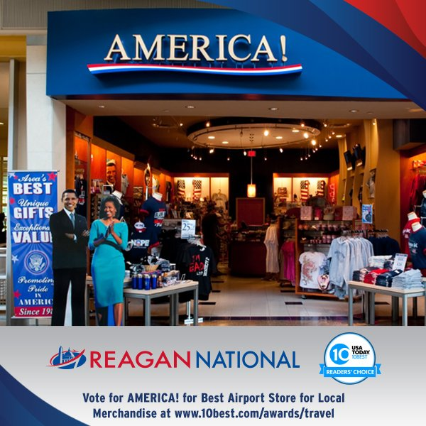 Vote for America! - Best Airport Shop for Local Merchandise @USATODAY's 10Best here: