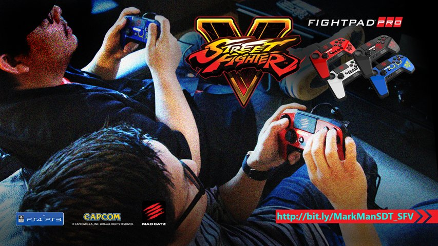 Enter to win a @MadCatz @StreetFighter V FightPad PRO before anyone else! https://t.co/kRFWhqW3pV  #MadCatzSFV https://t.co/0iTbM4ecwE