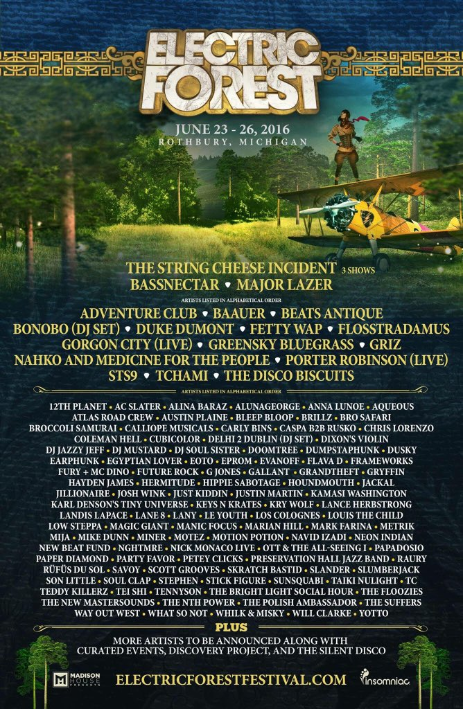 Heyyyuh we're playing @electric_forest this summer in Rothbury, MI! Full lineup at https://t.co/kdMHyIt2qe! #ef2016 https://t.co/1KcpVenjyo