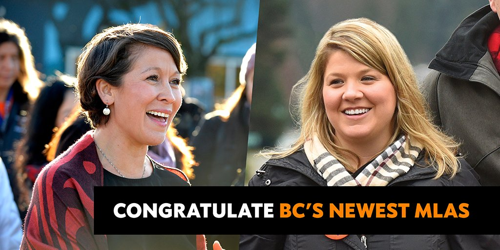 Congratulate @MelanieJMark, @JBTWickens on their election win. Sign the card: https://t.co/w8chy7etaG #bcpoli #bcndp https://t.co/Ft3Hdb0phj