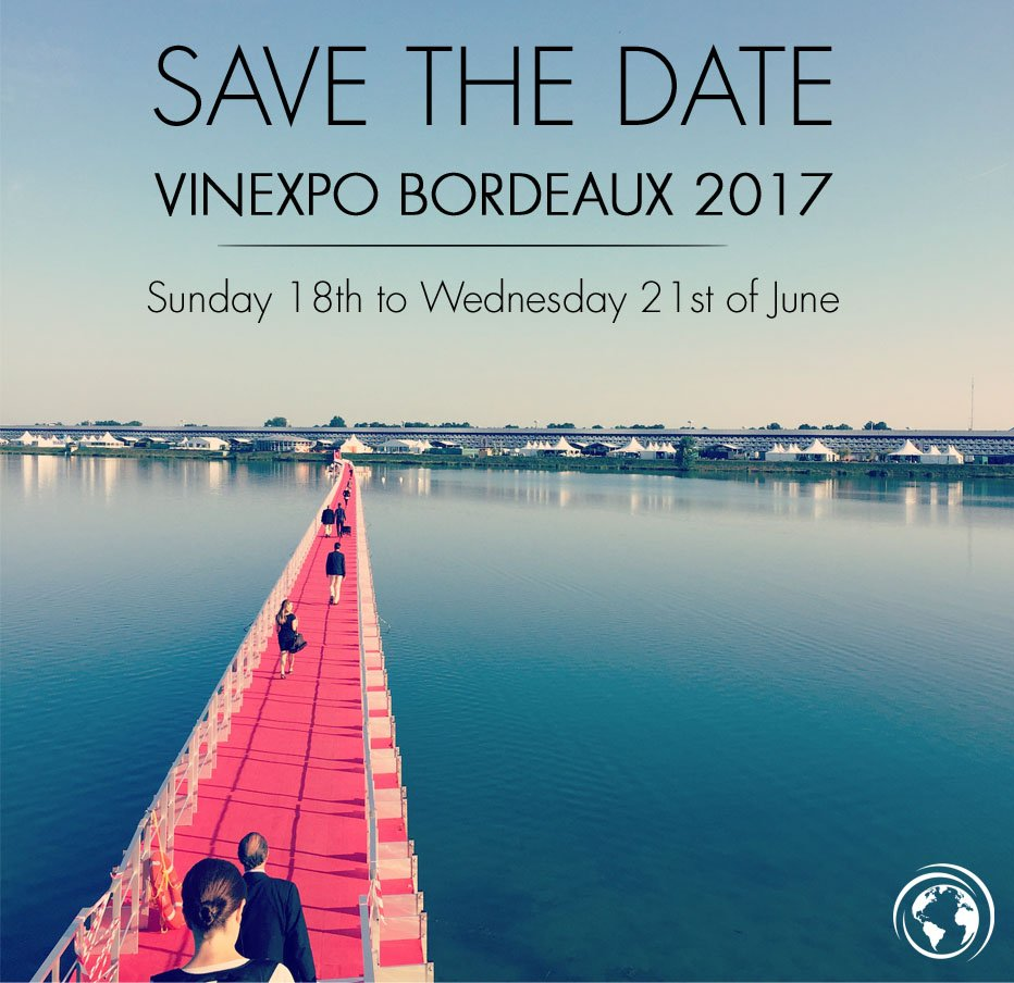 #SaveTheDate ! #VinexpoBx 2017 will be from Sunday 18th to Wednesday 21st of June 2017 https://t.co/joEjfgAFzw