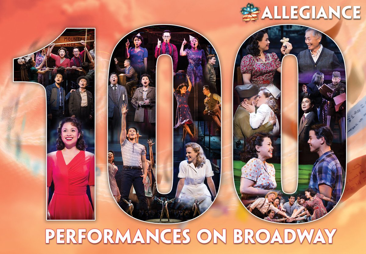 Today's mat marks our 100th perf on Bway! RETWEET + add your wishes  to be entered to win a prize pack! #ALLG100 https://t.co/sWuOCBoPqn