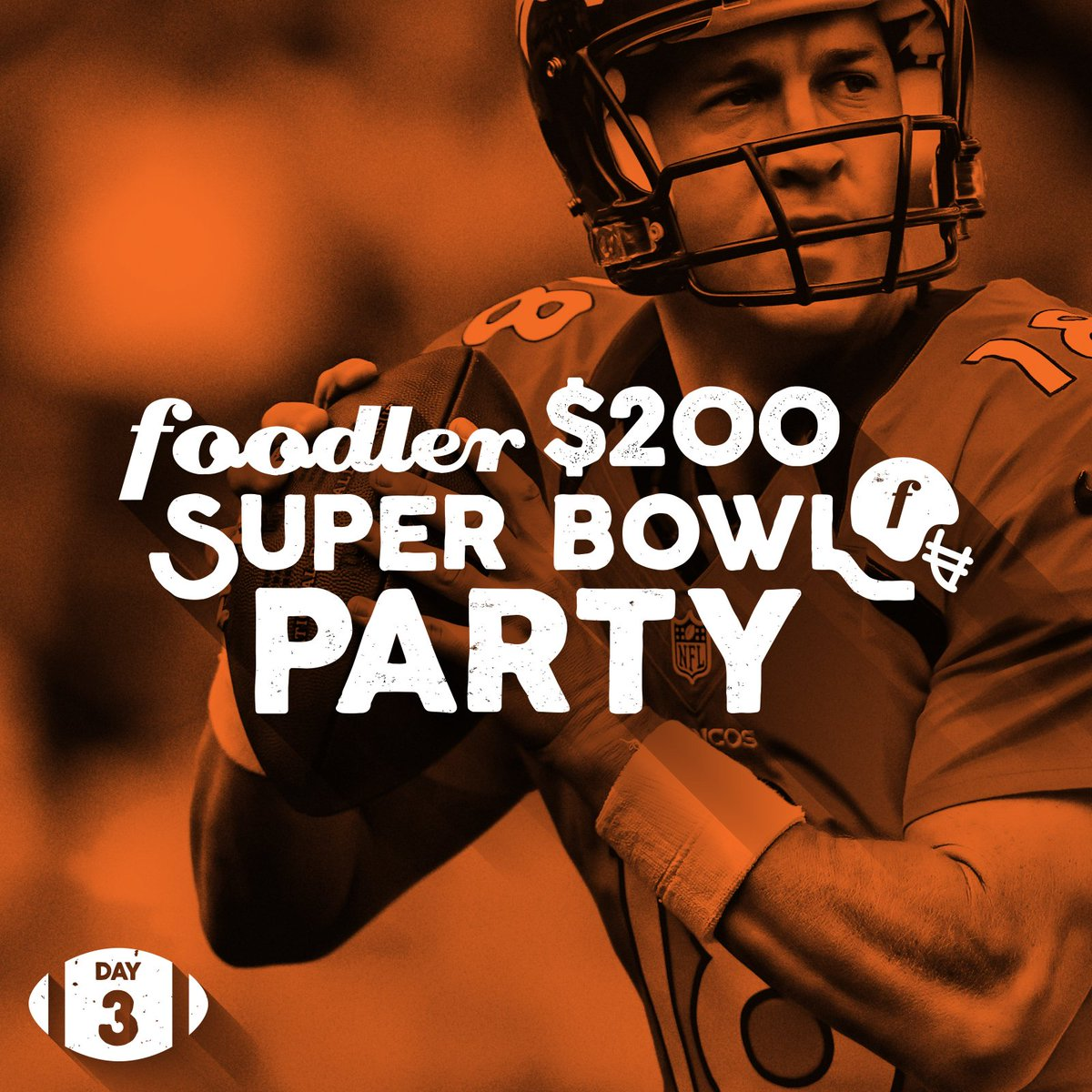 Day 3! We want to cater your #SuperBowl party! Follow us on Twitter and retweet for a chance to win! #foodlerftw https://t.co/NhFKZmIB5r
