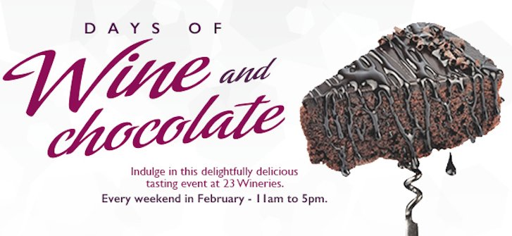 This month, enjoy decadent #VQA wine and chocolate pairings across @NiagaraWine! Details: https://t.co/DyrMdhtYe3 https://t.co/RtuVksFrVh