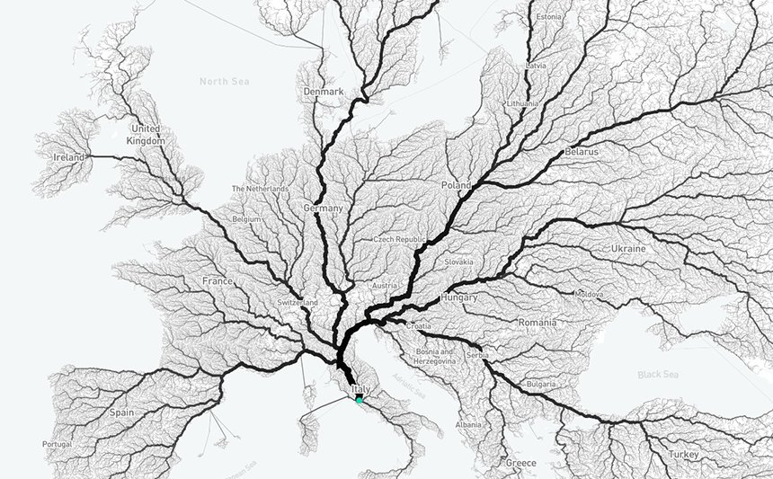 All roads lead to Rome? nearly 500,000 routes in Europe ended in the Eternal City  �� https://t.co/8yaWrqWagJ https://t.co/jnFPveGawJ