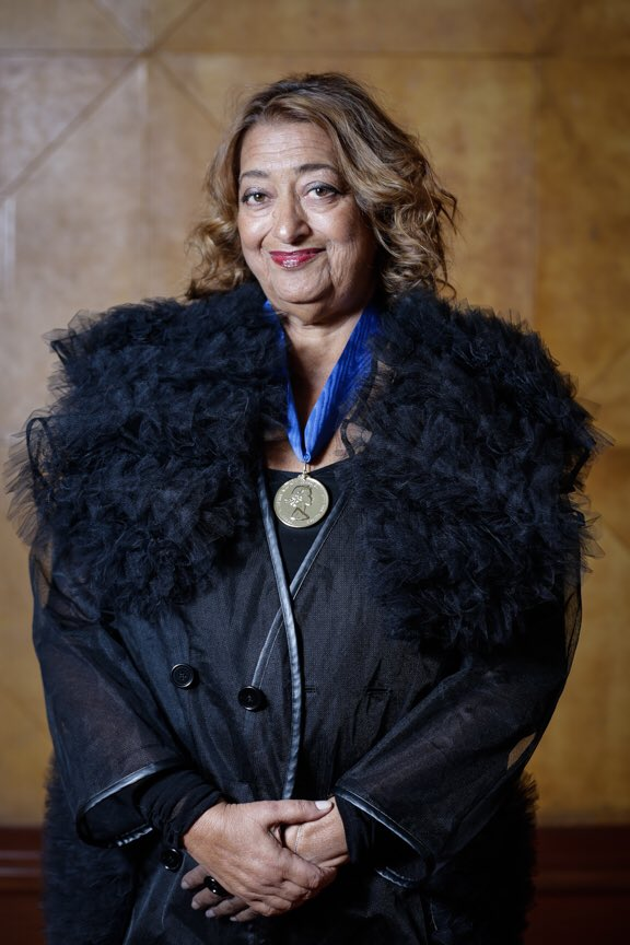 Congratulations to Dame Zaha Hadid who has tonight received the #RoyalGoldMedal for architecture @RIBA https://t.co/rzi5mmfCet