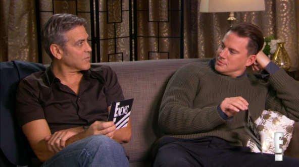 Who showed up for an audition drunk? George Clooney and Channing Tatum interview each other:
