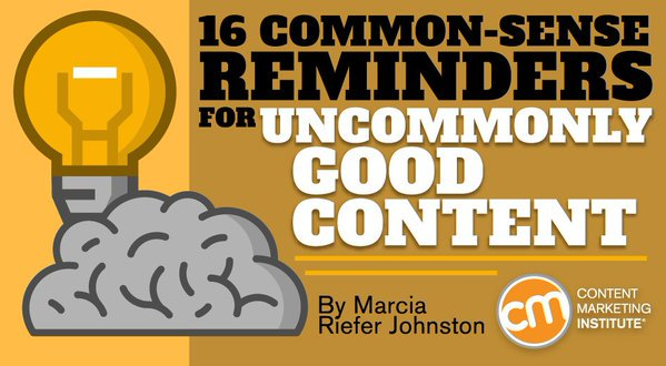 I join 15 other experts to share #intelcontent ideas for uncommonly good content https://t.co/zXZnQeq1b2. https://t.co/Je7SfvUolm