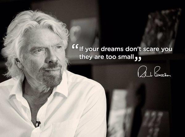 "#TBT My most popular tweet EVER! ""If Your Dreams Don't Scare You They Are Too Small"" @richardbranson #Inspiration https://t.co/ZH2SBuHXnC"