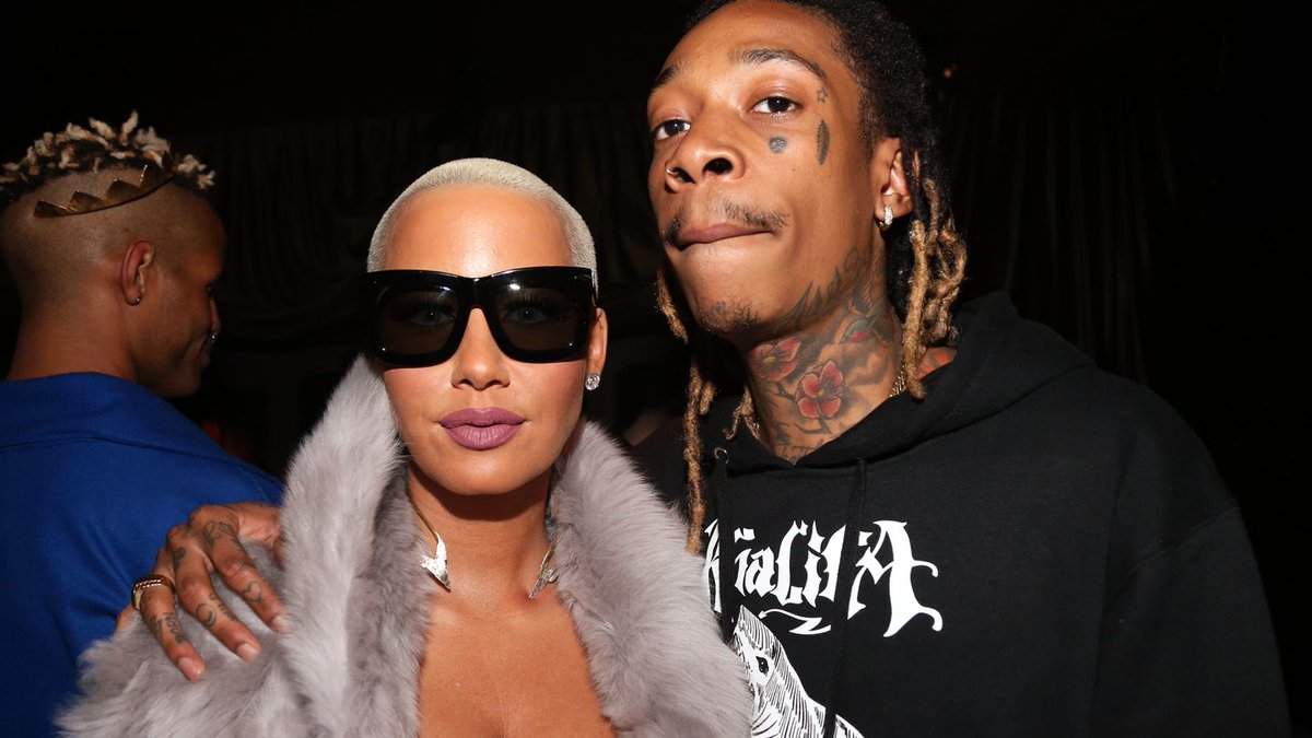 Amber Rose Hung With Wiz Khalifa At His Listening Party — And Even Gave Him A Kiss