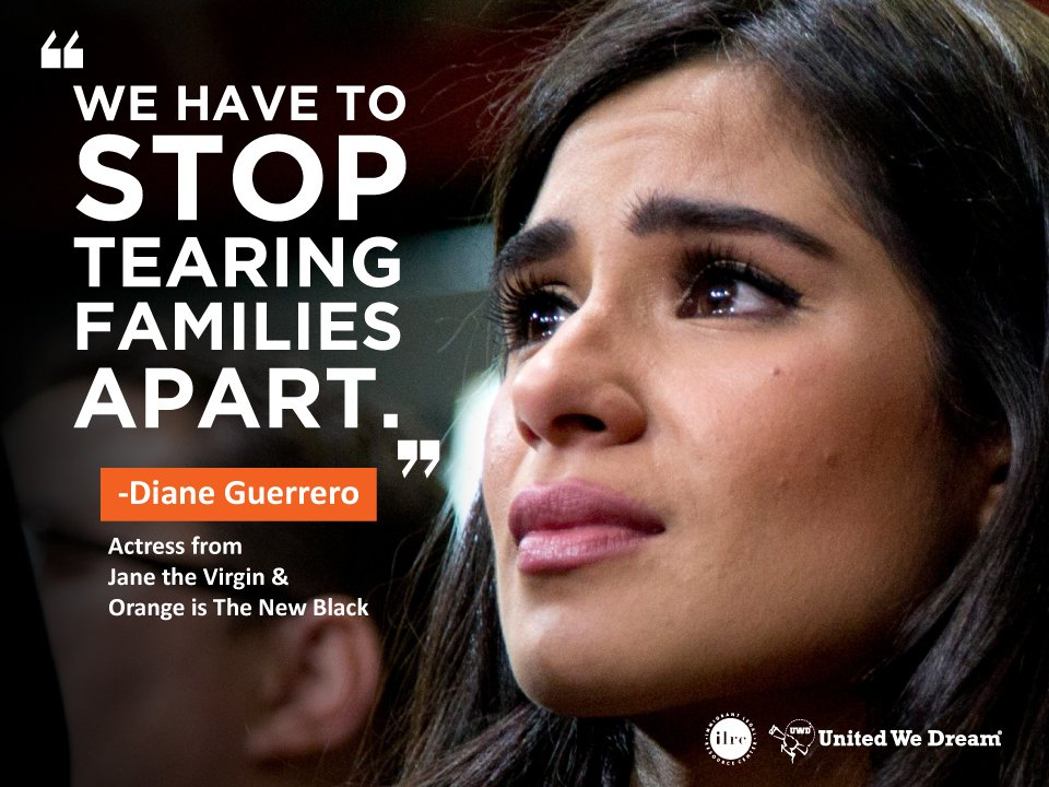 """I was 14 when my family was torn apart by deportation."" -@dianeguerrero__  Fight with us: https://t.co/co6C0ywzYh https://t.co/ZF15cBBGQR"