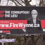 This is a real billboard in #Toronto on Eglinton Street! Another one is going up across from #Wynne office! #onpoli https://t.co/tFDrkGATb3