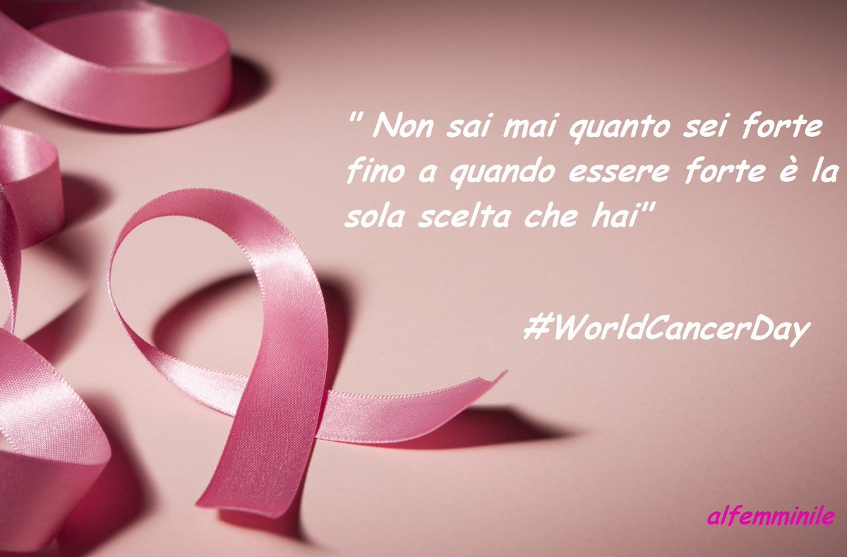 Bisogna essere forti, qualsiasi cosa! https://t.co/pY4cu8I7bX #WorldCancerDay https://t.co/bHfRXAZ5bD