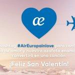 Cuéntanos tu historia de amor y nuestra azafata enamorada la convertirá en canción. Usa el hashtag#AirEuropainlove https://t.co/w04A0f9K4y