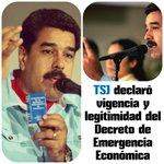 #TSJ declaró vigencia y legitimidad del Decreto de Emergencia Económica https://t.co/I8yTh4lBi8 … https://t.co/7VEpc9Ad9q