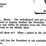 """During the Yom Kippur War 1973, Henry Kissinger tells Brent Scowcroft that the President is """"loaded"""": https://t.co/5C3KC1T7l1"""