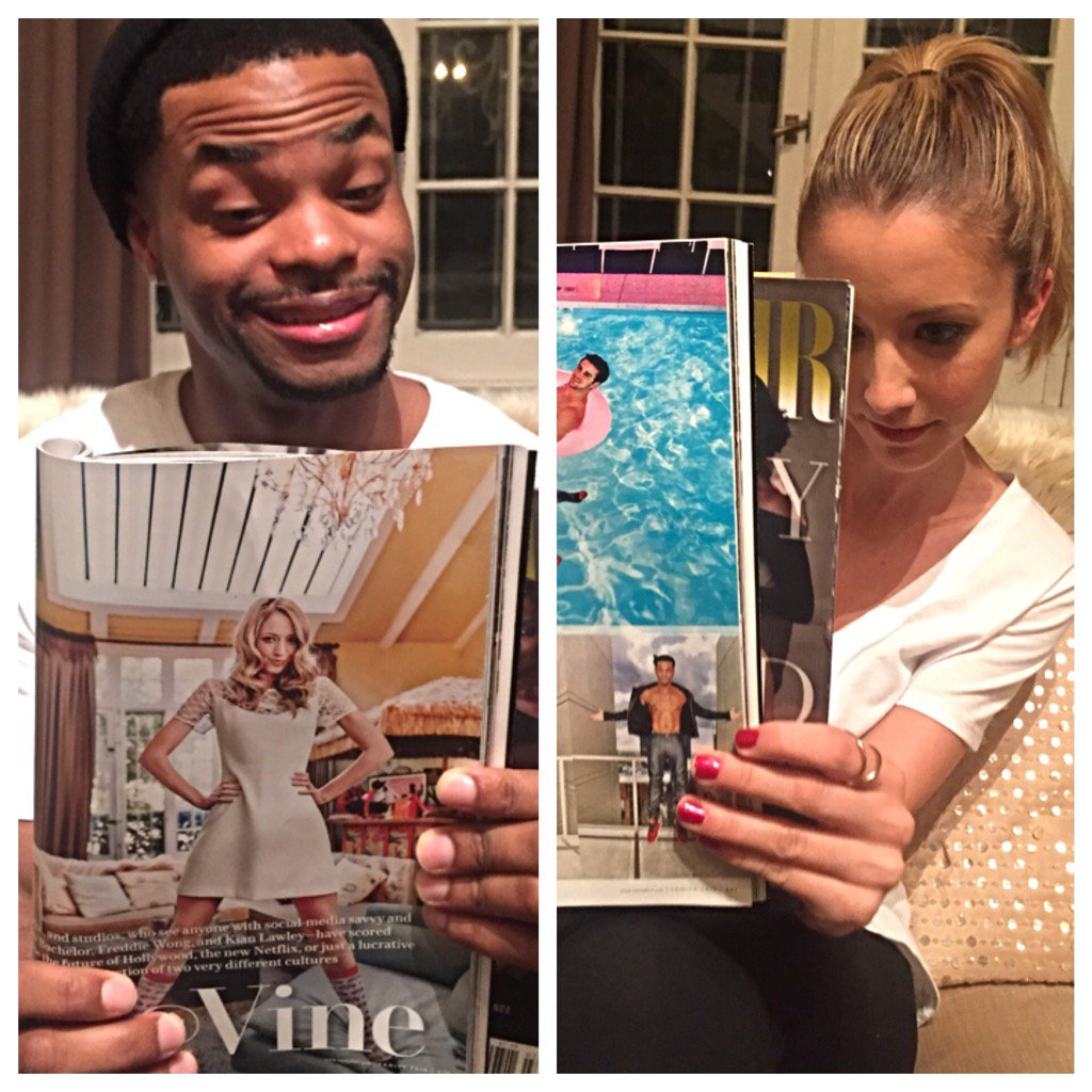 Thanks @VanityFair for the love... and for making @KingBach take off his clothes