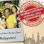 The Pearl of the Orient Seas - Philippines is set to travel to New Delhi on 11-13th March for #WorldCultureFestival! https://t.co/z2HEg2C6vu