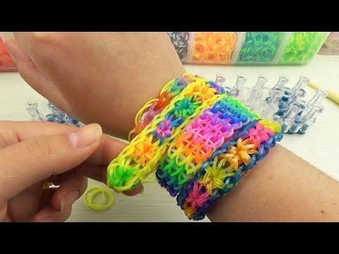 Как сделать браслет из резиночек звездочек