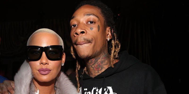 Amber Rose supports ex Wiz Khalifa at his album listening party