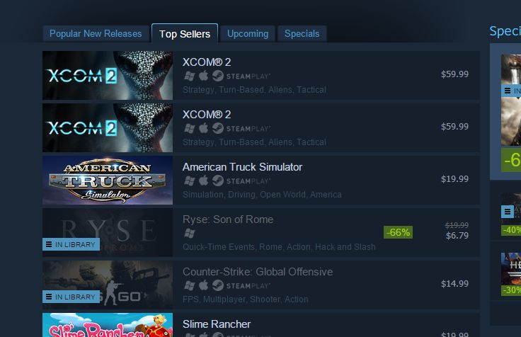 Congratulations to @XCOM 2 on being both the number 1 and number 2 best sellers on Steam for some reason. https://t.co/7L4t6Ldvbg