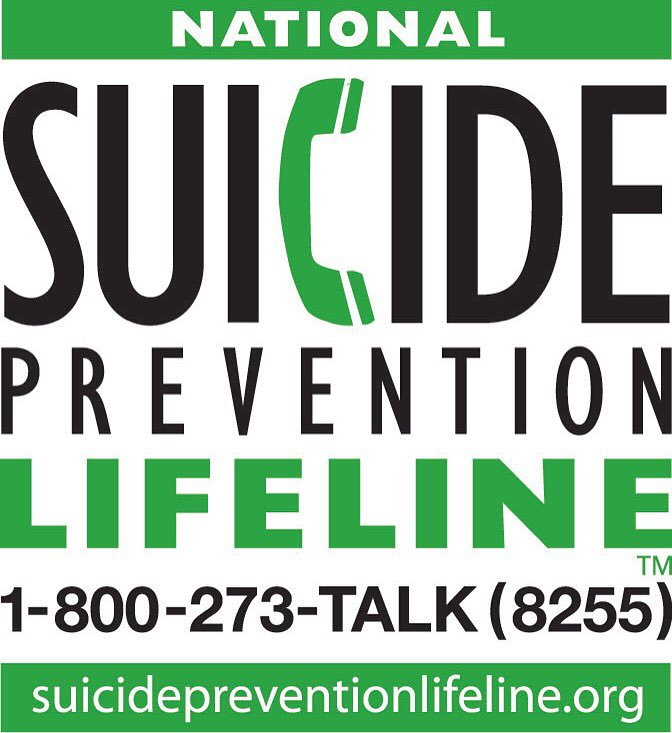 If you ever feel alone, depressed or feel like hurting yourself PLEASE CALL 1-800-273-8255. You're never alone! https://t.co/uTmnjveTKH