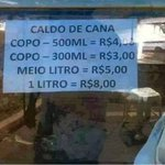 se vc quiser 500ml é 4 reais mas se quiser meio litro eh mais caro https://t.co/LdLvEOWP2Q