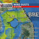 Wind gusts are picking up. This will make it feel even chillier today as temps stay stuck in the 60s #flwx https://t.co/5Lw0eGpNH5