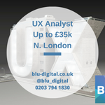 NEW ROLE: #UX Analyst, up to £35k, #London #ApplyNow: https://t.co/pth4L3cXWq https://t.co/wBMnCoV84a