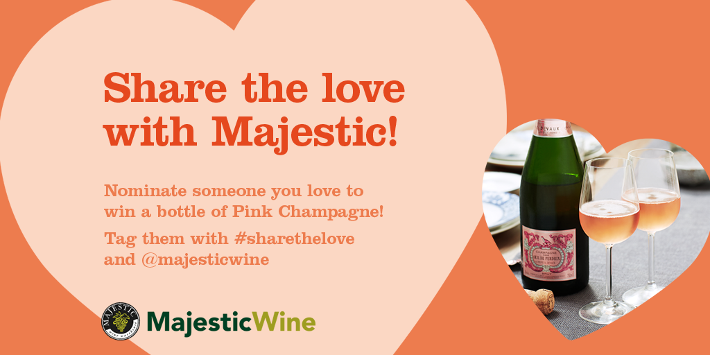 #Sharethelove with @majestiwine! Nominate a loved one for #valentines to win  a bottle of Champagne! #freebiefriday https://t.co/UjTbDBZgJy