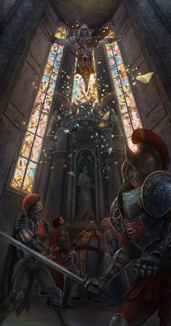 Ezio est quand même plus classe des Assassins. Si, si.  #ArtworkDuJour https://t.co/ijCsSRXicJ