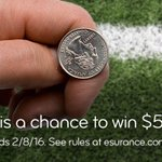 Ready for the big coin toss? We may be tossing you some coin. #EsuranceSweepstakes #SB50 https://t.co/Dc4D1WQaWD