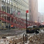 Horrifying NYC #cranecollapse caught on video as enormous crash leaves at least one dead https://t.co/WTppTzvib0 https://t.co/1XgjBan8Eu
