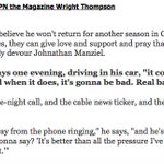 An August 2013 ESPN The Magazine piece from Wright Thompson on Johnny Manziel is just...wow. https://t.co/ElhbLggmsC