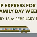 We're inviting your family to spend the wknd exploring #Toronto. Enjoy FREE #UPExpress service Sat Feb 13-Mon Feb 15 https://t.co/iibuQZ0iKT