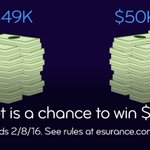 Runners-up at the 2015 big game each got $49K. You could win more than that by RTing. #EsuranceSweepstakes #SB50 https://t.co/IWBDc1nxWc