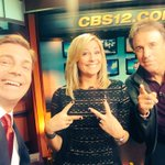 Gotta throw up the deuces when @kevin_nealon is on the @CBS12 set. Hes at the @PBImprov this weekend! https://t.co/ODme8hFU2D