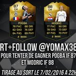 RT + Follow me pour gagner MODRIC 88 et POGBA 87 ! (2 gagnants) Merci @severinduval et @EA_FIFA_France pour ceci ! https://t.co/AIEwSbGlfw