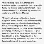 Johnny Manziels agent has parted ways with him, as seen in this statement: https://t.co/JKVEHOAeHm