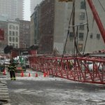 One confirmed dead and up to 15 people reportedly injured in lower Manhattan crane collapse: https://t.co/4ZjKmGZpfp https://t.co/qPPBl7ufei