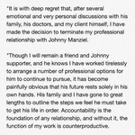 A statement from @ErikBurkhardt, the now former agent for Johnny Manziel. Their business relationship is over https://t.co/oC3Zp9RKkN