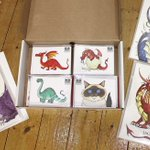 A box of my illustrated beasties, now in stock in the fabulous @locprod4you #Westbridgford #Nottingham #Gifts https://t.co/vlrYNUpl0Z