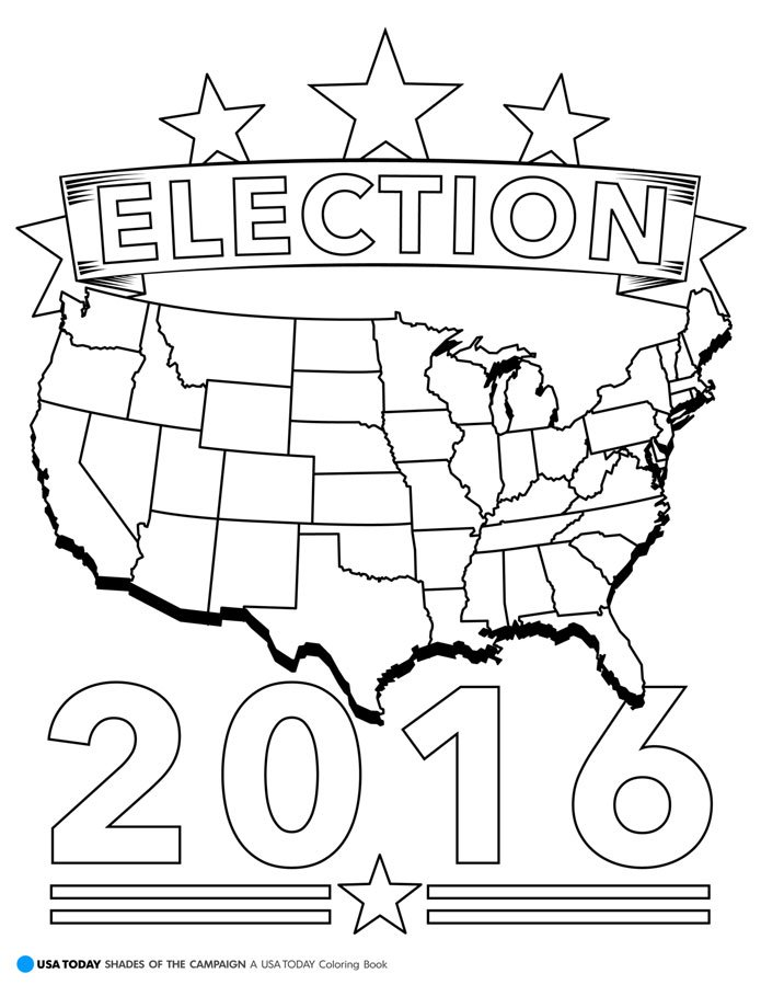 coloring pages election - photo#23