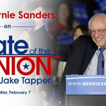 .@BernieSanders will join @jaketapper on #CNNSOTU this Sunday ahead of Tuesdays #NewHampshirePrimary https://t.co/EFReSFpBMd