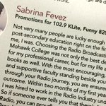 Our covergirl @sabrinadawn4 makes it onto the @MohawkCollege #Radio brochure! @1029Klite @Funny820 @TSN1150 https://t.co/plepLfmGD6