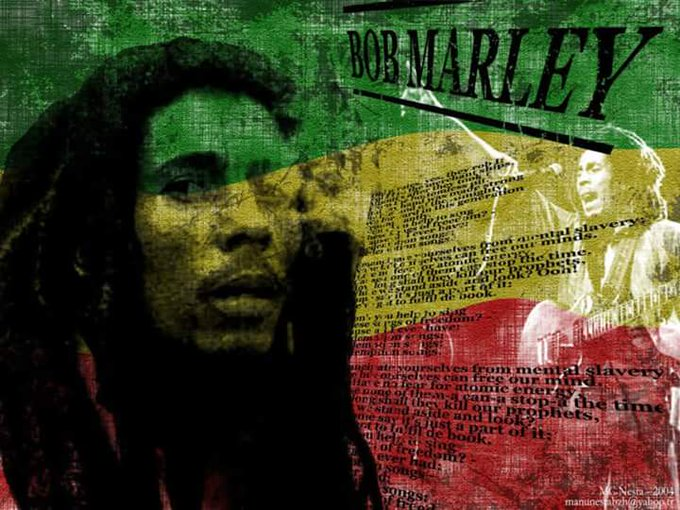 Legends die but their songs live Happy Birthday Bob Marley spread the love like him not by smoking weed like him