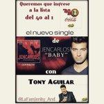 """@Tony__Aguilar las Canelitas de @jencarlosmusic queremos que """"Baby"""" ingrese a la lista @Del40al1_es  Gracias!! https://t.co/F6LWMxm6dO 👒"""